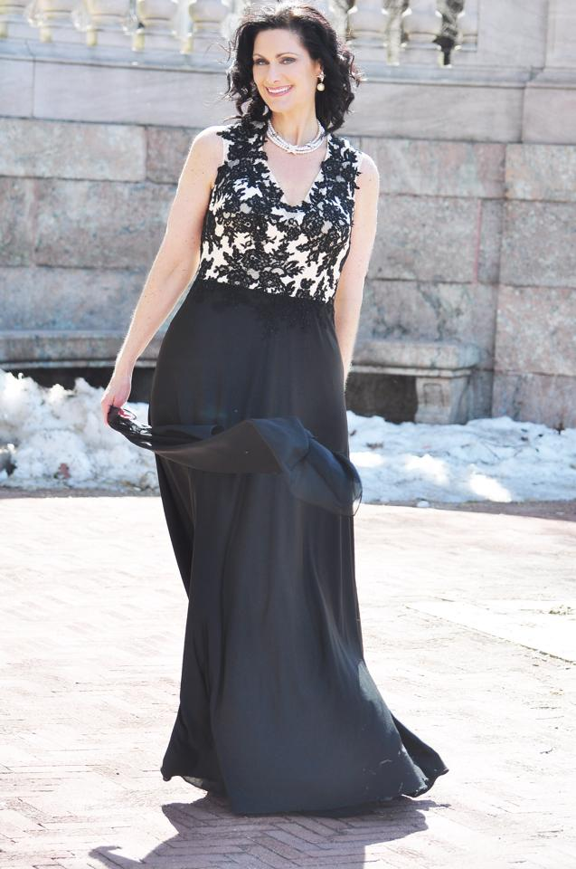 Amy Freinberg black gown for sidneys closet